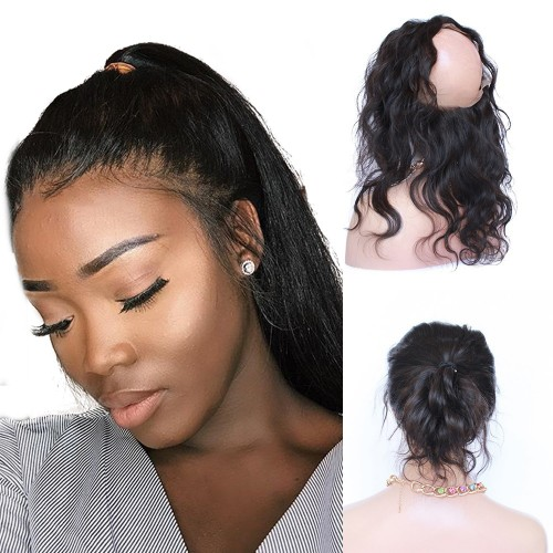 Pre Plucked 360 Lace Frontal 22*4*2  Body Wavy 7A Brazilian Virgin Hair