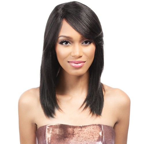 Indian Remy Hair Straight Front Lace Wigs PWFU12
