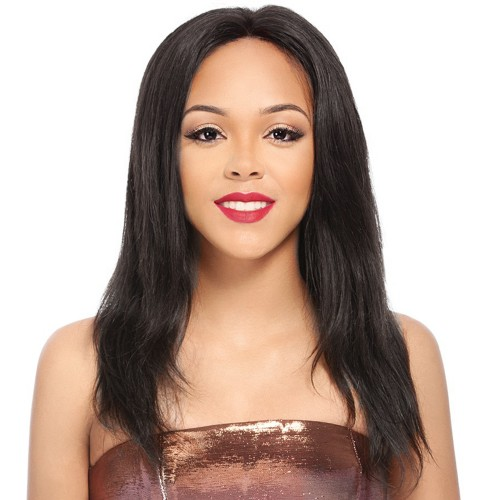 16 Inch #2 Indian Remy Hair Straight Front Lace Wigs PWFU14