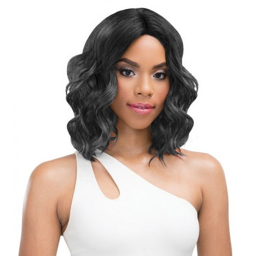 16 Inch Indian Remy Hair Body Wavy Front Lace Wigs PWFU18