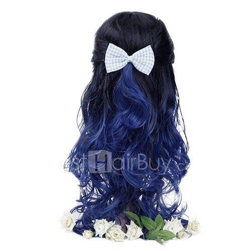 Newest Two Tone Ombre Hair Weave #1B/Blue Body Wavy 100g