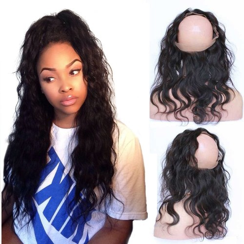 10-20 Inch Body Wavy 6A Brazilian Virgin Hair 360 Lace Frontal Band 22*4*2