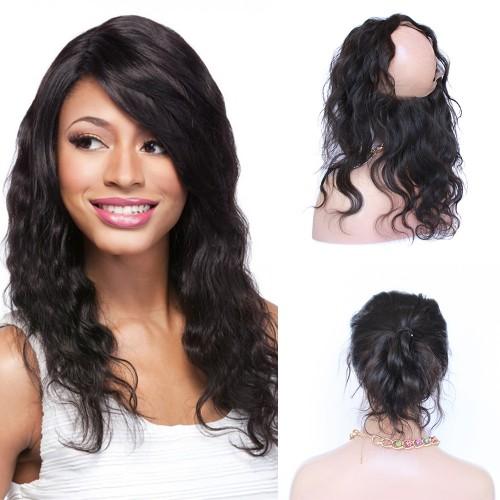 10-20 Inch Body Wavy 7A Brazilian Virgin Hair 360 Lace Frontal Band 22*4*2