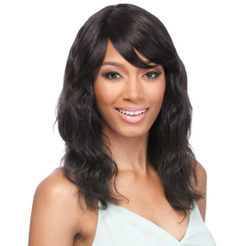 14 Inch Natural Color Indian Remy Hair Natural Wavy Front Lace Wigs PWFU37
