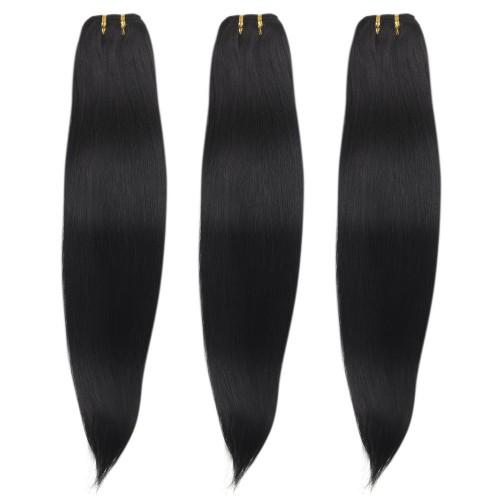 3 Bundles 300g Straight Brazilian Remy Hair #1 Jet Black