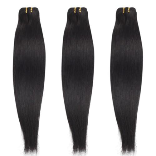 3 Bundles 300g Straight Brazilian Remy Hair #1B Natural Black