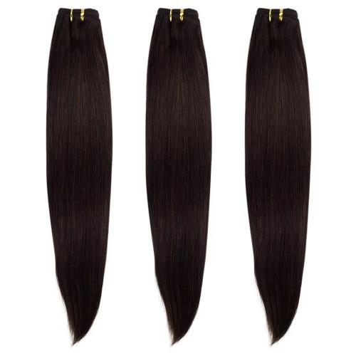 3 Bundles 300g Straight Brazilian Remy Hair  #2 Darkest Brown