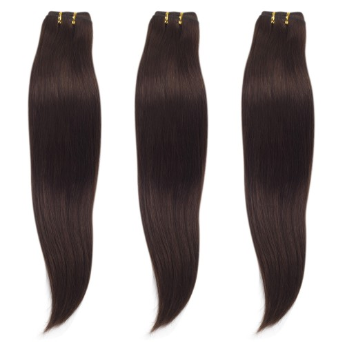 3 Bundles 300g Straight Brazilian Remy Hair #4 Chocolate Brown