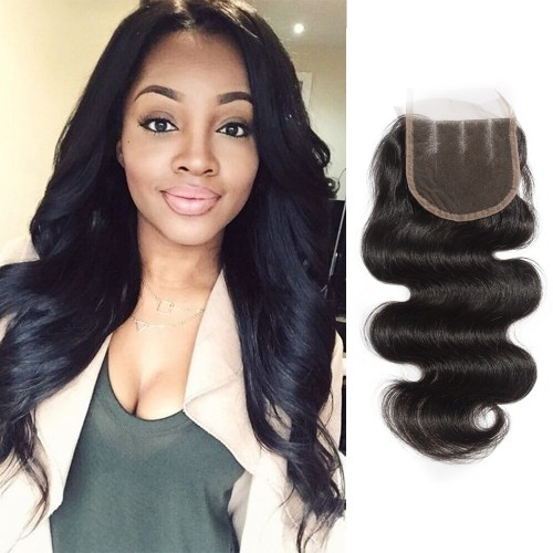 10-20 Inch Virgin Brazlian Hair Body Wavy 4*4 Three Part Lace Top Closure