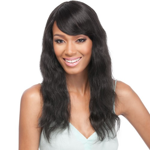 Natural Color Indian Remy Hair Natural Wavy Front Lace Wigs PWFU42