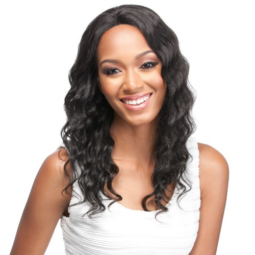 20 Inch Natural Color Indian Remy Hair Body Wavy Front Lace Wigs PWFU47