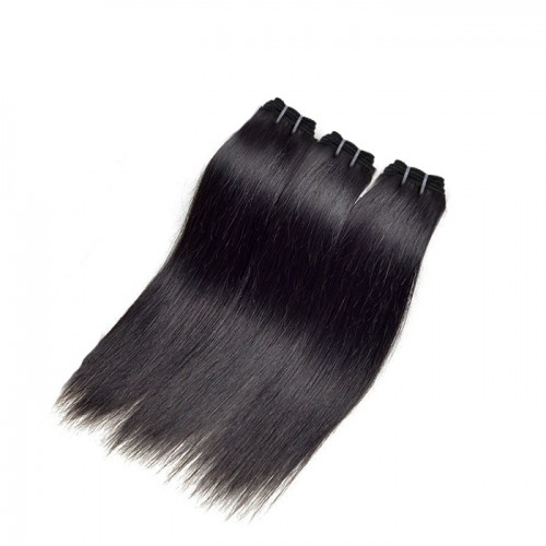 "12""-26"" 3 Bundles Straight Virgin Brazilian Hair Natural Black 180g"