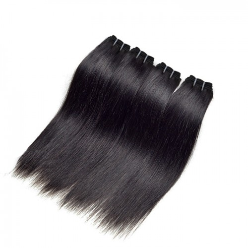 "12""-26"" 4 Bundles Straight Virgin Brazilian Hair Natural Black 240g"