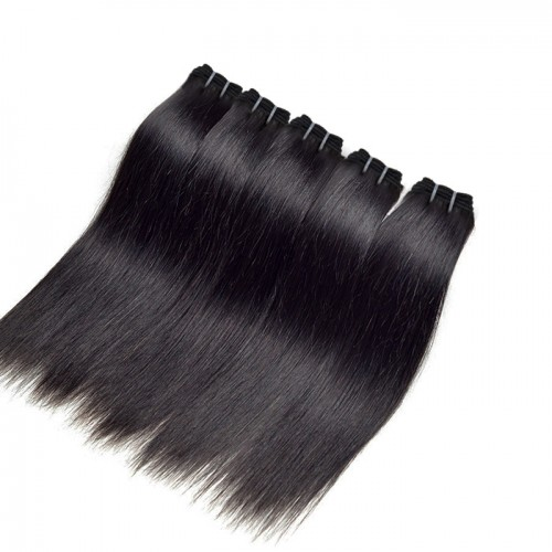 "12""-26"" 5 Bundles Straight Virgin Brazilian Hair Natural Black 300g"