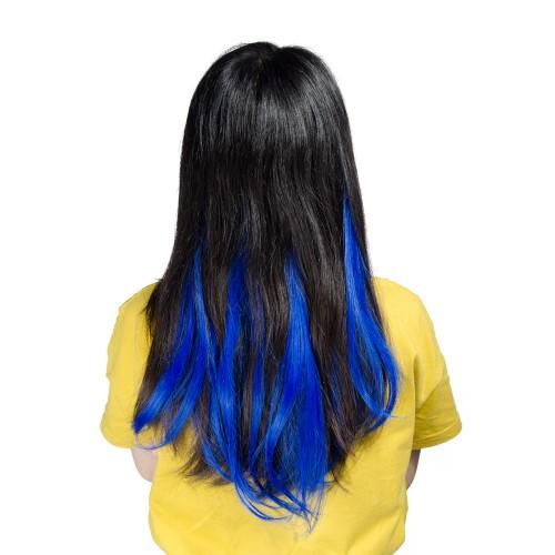 Blue Synthetic Flip in Hair