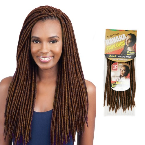 USA Stock 12 Inch 6PCS Synthetic Havana Faux Locs Braid