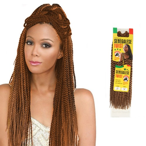 USA Stock 18 Inch 6PCS Synthetic Senegal Twist Braid