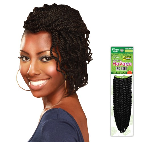 USA Stock 12 Inch 6PCS Synthetic Havana Twist Braid