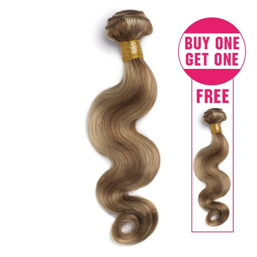 Buy 1 Get 1 Free Body Wavy Brazilian Remy Hair #8/613