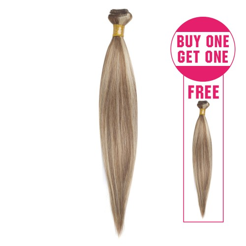 Buy 1 Get 1 Free Straight Brazilian Remy Hair #8/613