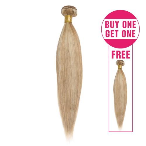 Buy 1 Get 1 Free Straight Brazilian Remy Hair #27/613
