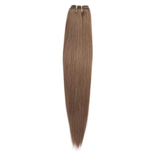 100g Straight Brazilian Remy Hair #8 Light Brown