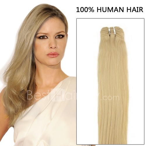 100g Straight Brazilian Remy Hair #24 Sandy Blonde