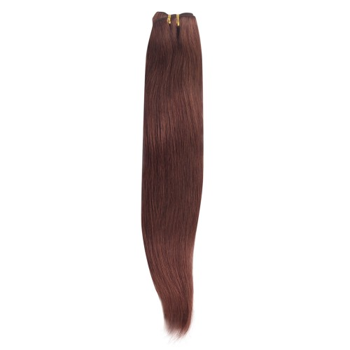 100g Straight Brazilian Remy Hair #33 Rich Copper Red
