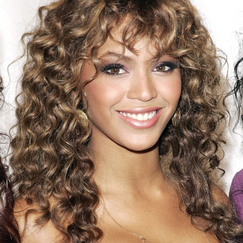 Beyonce Mid-Length Curly Full Lace Human Hair Wig CW152