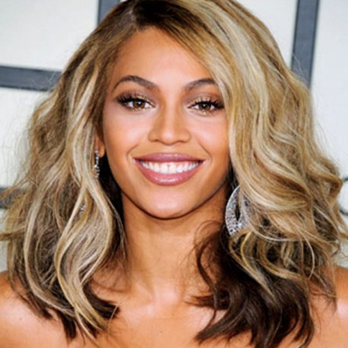Beyonce Mid-Length Wavy Full Lace Human Hair Wig CW156