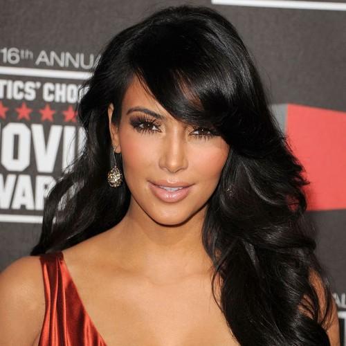 Kim Kardashian Long Wavy Full Lace Human Hair Wig CW158