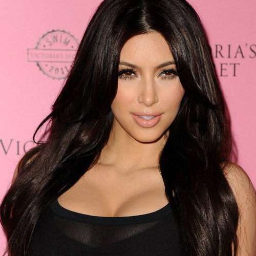 Kim Kardashian Long Straight Full Lace Human Hair Wig CW160