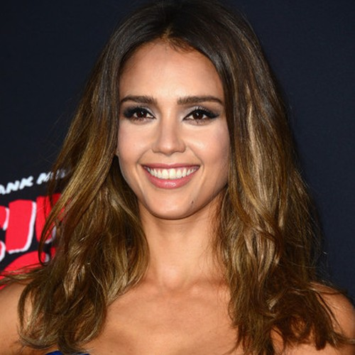 Jessica Alba Lace Front Chic Style Body Wavy Indian Remy Hair Wig 16 Inch