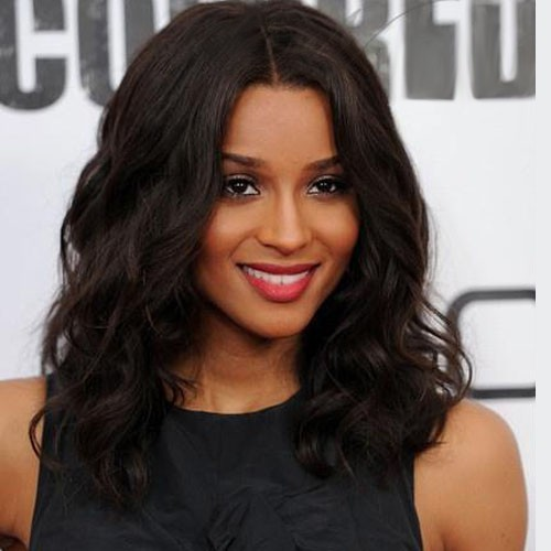 Ciara Lace Front Medium Body Wavy Indian Remy Hair Wig 14 Inch