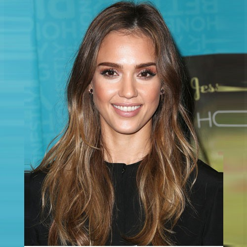 Jessica Alba Lace Front Body Wavy Indian Remy Hair Wig 18 Inch