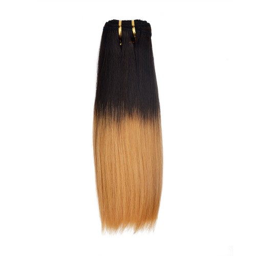 16 Inch Light Yaki Brazilian Remy Hair #1B/27
