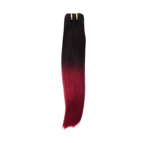 16 Inch Light Yaki Brazilian Remy Hair #1B/Burg
