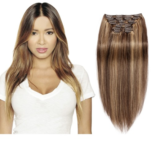 160g 20 Inch #4/27 Straight Clip In Hair