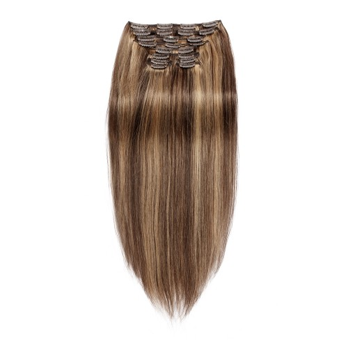 220g 24 Inch #4/27 Straight Clip In Hair
