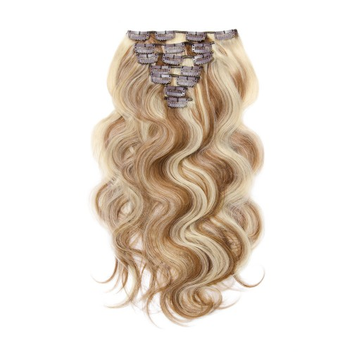 70g 16 Inch #8/613 Body Wavy Clip In Hair
