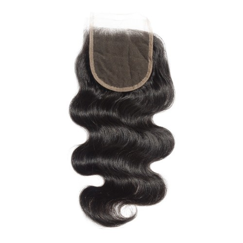 10-20 Inch Virgin Brazlian Hair Body Wavy 4*4 Hand Tied Free Part Lace Top Closure