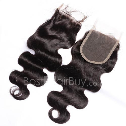 10-20 Inch Virgin Brazlian Hair Body Wavy 4*4 Free Part Lace Top Closure