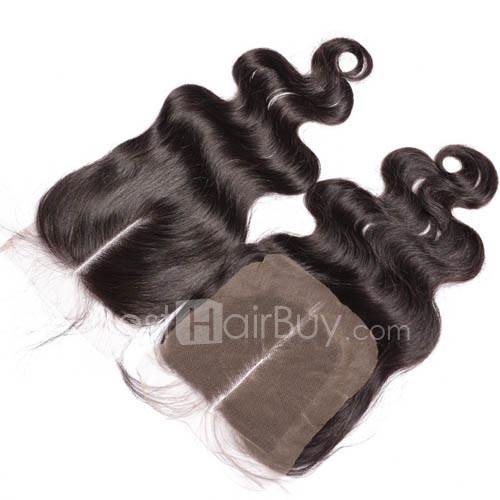 10-20 Inch Virgin Brazlian Hair Body Wavy 4*4 Middle Part Lace Top Closure