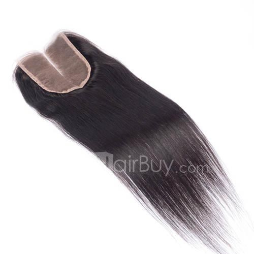 10-20 Inch Virgin Brazlian Hair Strainght 4*4 Middle Part Lace Top Closure