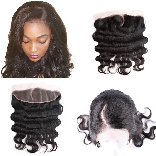 Pre Plucked C Part Lace Frontal 13x4 Brazilian Hair Body Wavy