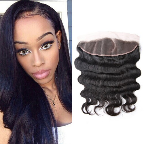 Pre Plucked Left Side C Part Lace Frontal 13x4 Brazilian Hair Body Wavy