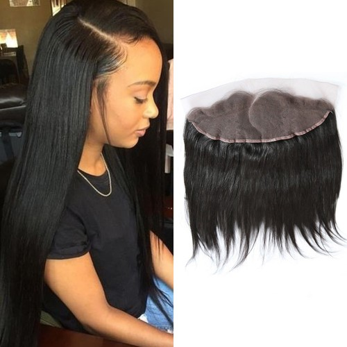 Pre Plucked Right Side C Part Lace Frontal 13x4 Brazilian Hair Straight