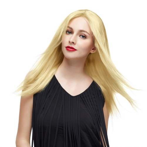 "18"" #24 Sandy Blonde Brazilian Virgin Straight Full Lace Wig"