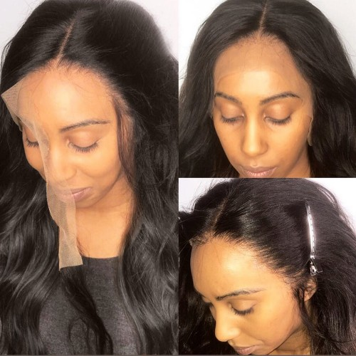 Undetectable Transparent Lace Brazilian Virgin Hair Body Wavy Full Lace Wig