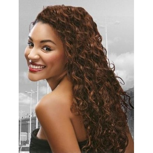 """24"""" #33 Rich Copper Red Indian Remy Deep Wavy Full Lace Wig PWFL16"""